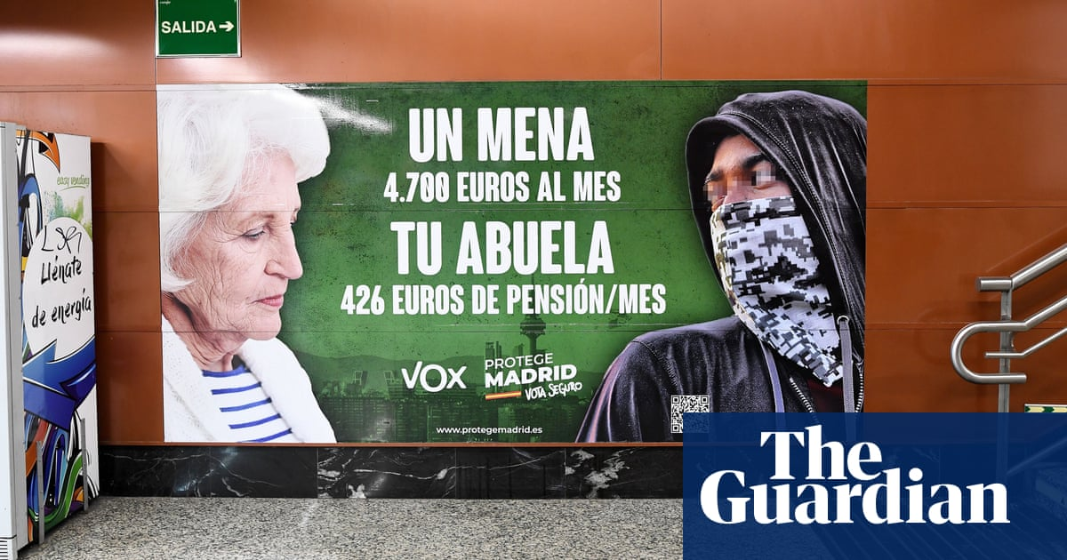 Madrid court rules far-right anti-migrant poster is legitimate