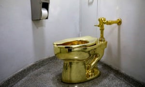 It works … Maurizio Cattelan's sculpture America, which the Guggenheim offered to the White House instead of a Van Gogh.