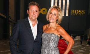 Golden couple: Emily Maitlis with husband Mark Gwynne.
