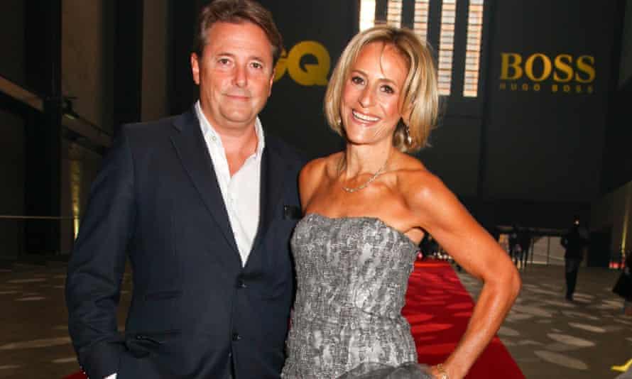 Emily Maitlis and her husband, Mark Gwynne.