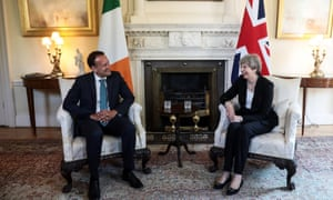 Irish Prime Minister Leo Varadkar in Number 10 with Theresa May.