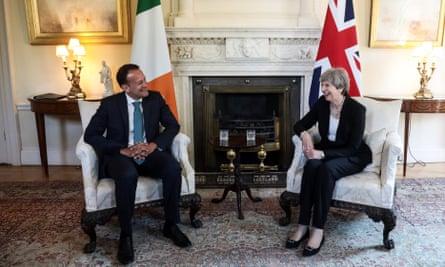 Leo Varadkar and Theresa May.