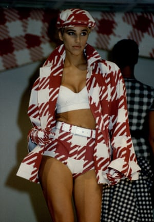 Another outfit in the Azzedine Alaia spring/summer show in 1991