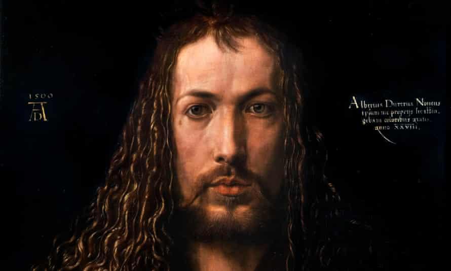 Detail of a self-portrait of Albrecht Dürer