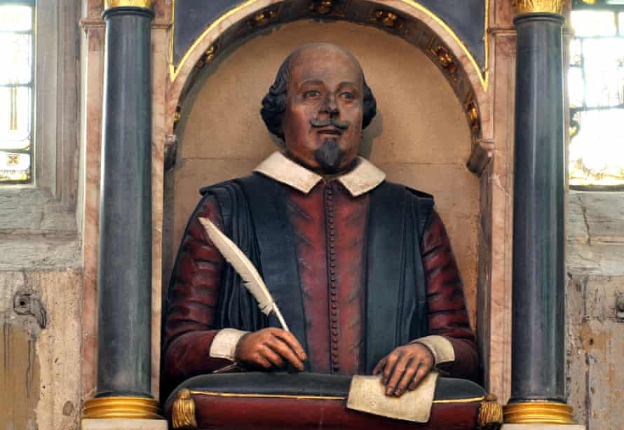 William Shakespeare bust in Holy Trinity Church, Stratford-upon-Avon, Warwickshire