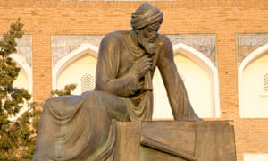 A statue of the mathematician Muhammad ibn Musa al-Khwarizmi in Uzbekistan.