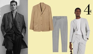 Casual tailoring: The suit has lost a lot of style ground in the past year, but as we head out of lockdown, the unstructured relaxed version is due a comeback. In May, M&S will launch a jersey fabric suit that's smart and comfortable for WFH. Finish the look with a crisp white T-shirt and leather pumps. From left: model wears coat, £119.99, blazer, £89.99, trousers, £59.99, all zara.com. Blazer, £49.99, Edition by Héctor Bellarin at hm.com. Trousers, £135, reiss.com. Model wears blazer, £275, T-shirt, £25, and trousers, £125, all reiss.com