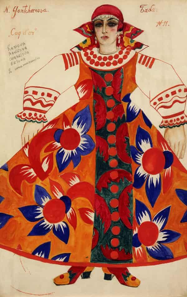 Peasant woman, costume design for ballet/opera Le Coq d'Or 1937.