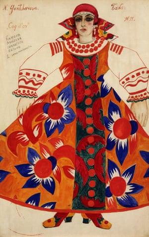 Natalia Goncharova's Peasant Woman, 1937.