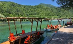 Boats at Natura Art in Una National Park.