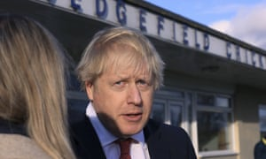 Boris Johnson in Sedgefield after his election victory