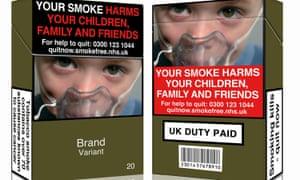 Unbranded cigarette packaging