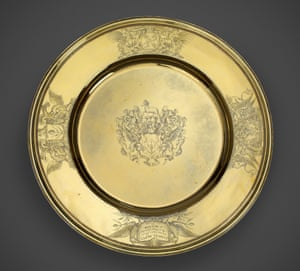 Pepys Rosewater dish, c.1677, displayed at the National Maritime Museum in 2015.