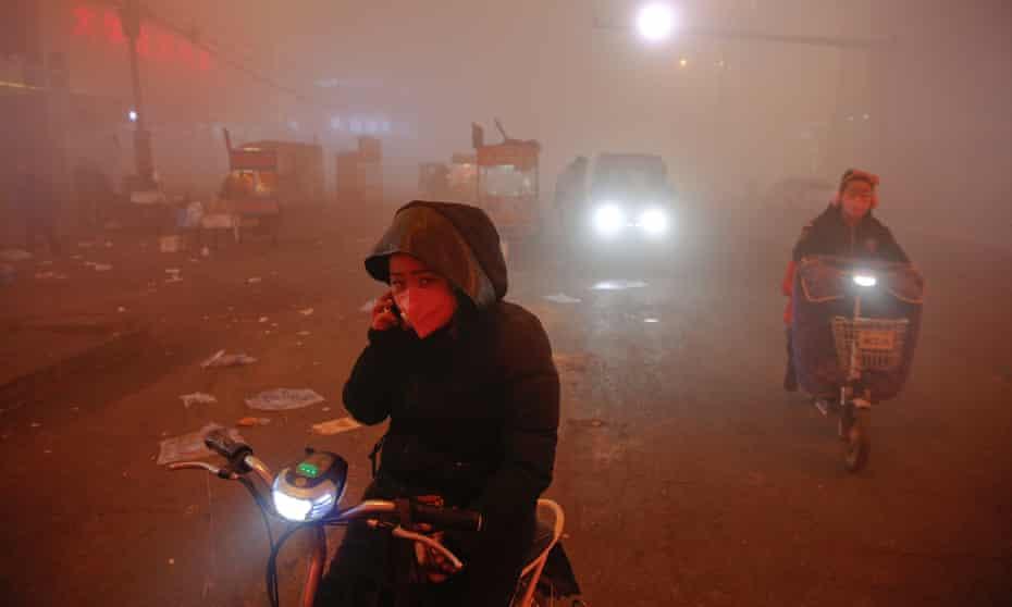 Airpocalypse ... Shengfang, Hebei province, China.