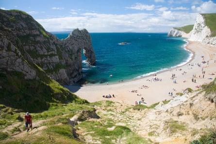 Durdle Door beach and Bats Head, Dorset
