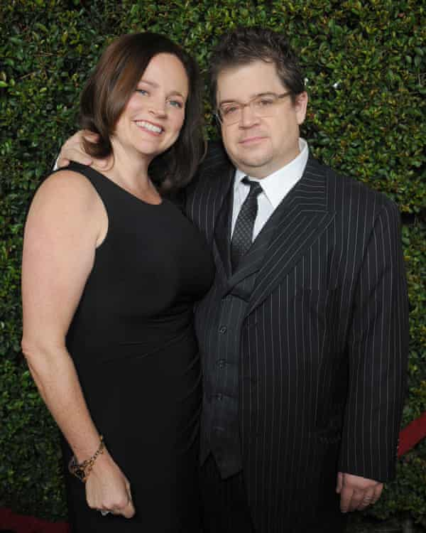 Patton Oswalt and his wife Michelle McNamara at the premiere of Young Adult in 2011