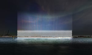 This rendering shows how the Light Guard project works, by generating solar electricity to power a flood warning system.