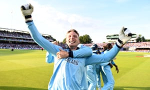 Jos Buttler celebrate as England beat New Zealand to win the Cricket World Cup at Lord's.