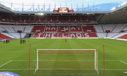 Sunderland's Stadium of Light. The club are sixth in League One after 10 games of the 2020-21 season.