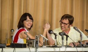 Gracious good humour … Emma Stone and Steve Carell in Battle of the Sexes.