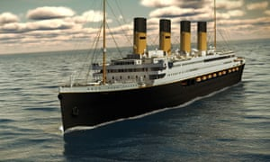 Artist's impression of Titanic II, a full-size replica of the original vessel, proposed by Australian businessman Clive Palmer.