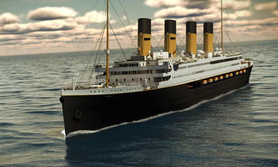 Artist's impression of Titanic II, a full-size replica of the original vessel, proposed by Australian businessman Clive Palmer.