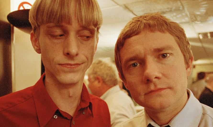 Frenemies ... Mackenzie Crook's Gareth and Martin Freeman's Tim.