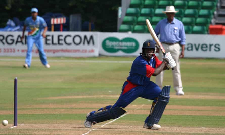 Chris Thompson on his way to scoring 41 during the third ODI between England U-19 and India U-19 in Cardiff in July 2006.