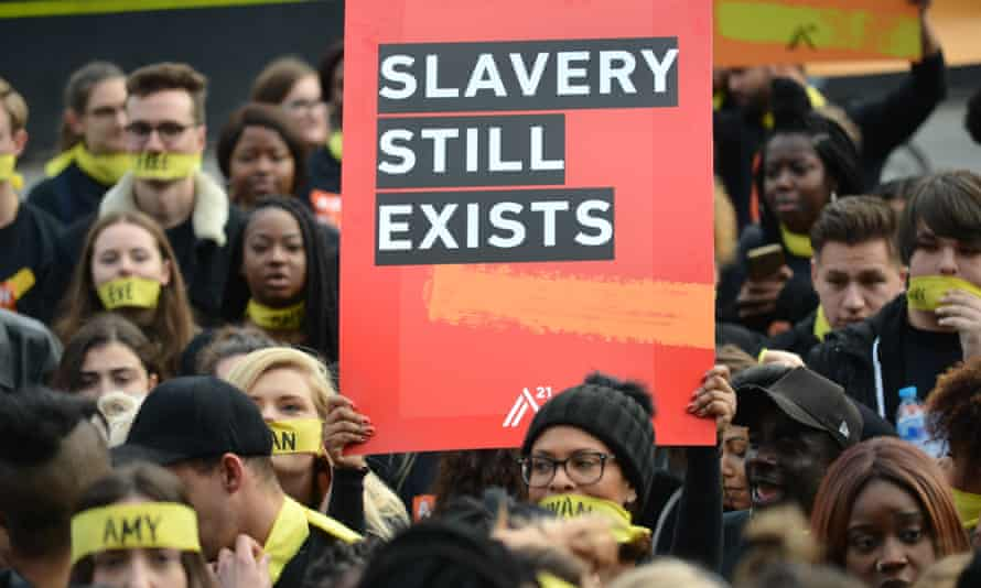 Anti-slavery protest in London, October 2017.