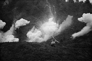 Vietnam, September 1966. US bombs pummel Binh Dinh province