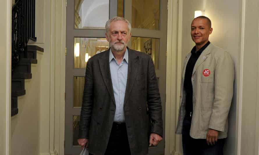 Jeremy Corbyn with Clive Lewis