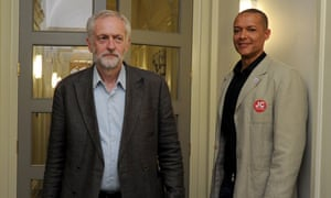 Jeremy Corbyn with Clive Lewis at a leadership rally in 2015