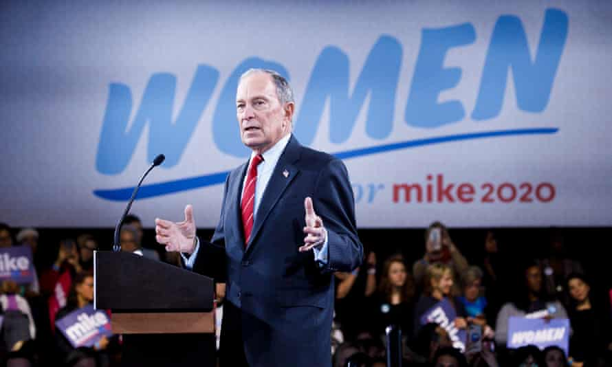 Michael Bloomberg speaks during a campaign event aimed at female voters on 15 January.