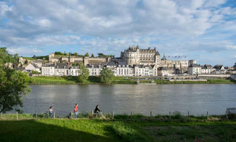 Amboise, the River Loire, the city and the castle.