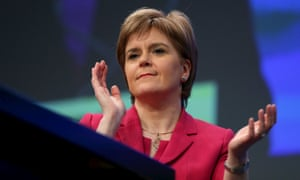 Nicola Sturgeon at the SNP conference on Friday