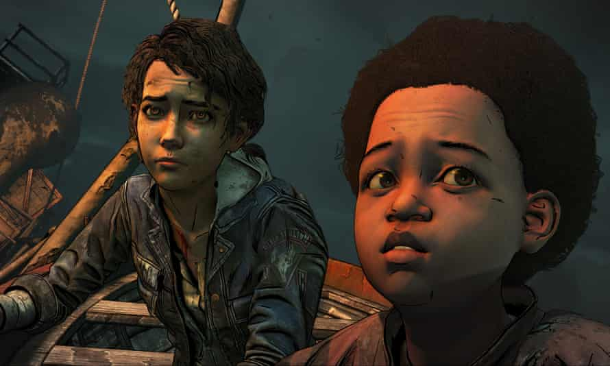 Clementine and AJ in The Walking Dead: The Final Season episode 4.