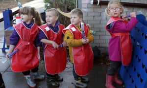 reception-year children playing outdoors