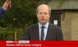 Philip Rutnam making his resignation statement.
