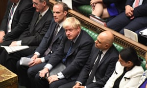Boris Johnson during a debate in the House of Commons in London
