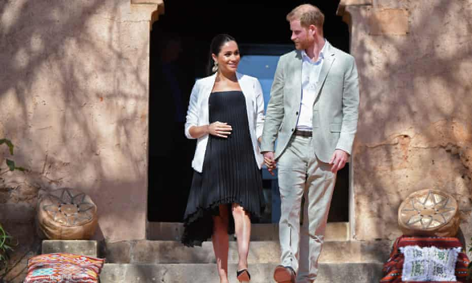 Prince Harry and his wife Meghan, Duchess of Sussex, in Morocco