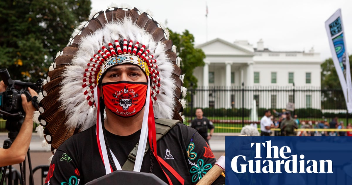 Activists hold rally on Indigenous Peoples' Day outside White House – video