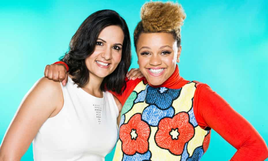 Dr Radha Modgil and Gemma Cairney: struggling to find the right words, but doing good work.