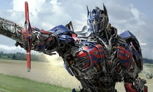 A scene from Transformers: Age of Extinction.