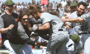 The Nationals v Giants brawl attracted plenty of attention this year