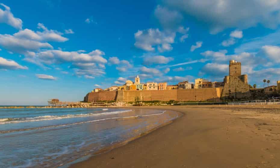 Golden daze … the ancient city of Termoli, on Molise's Adriatic coast.
