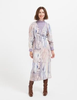 model wears dress, £85, stories.com. Turtle neck, £235, pringlescotland.com. Boots, £139, office.co.uk.