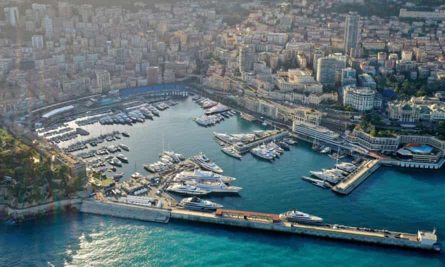The Monte Carlo Star complex overlooks Monaco's Marina