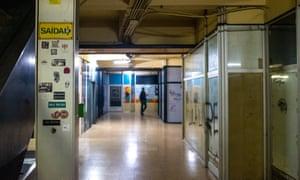 A corridor inside Stop.
