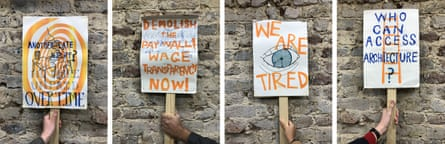 Unrest … UVW-SAW placards.