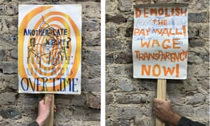 Rebuild the profession … placards created to represent UVW-SAW members' demands.